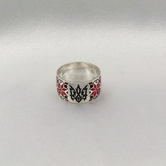 Кольцо вышиванка с гербом