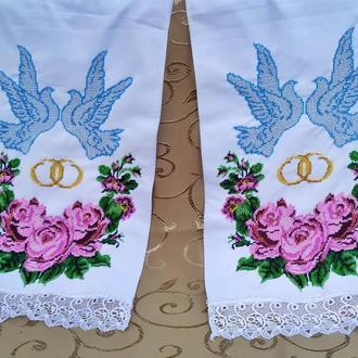 Свадебный рушник, вышитый чешским бисером