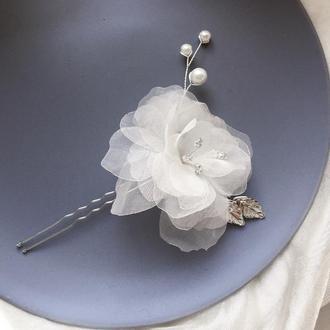 Свадебная шпилька цветок