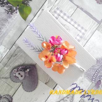 Цветочная брошь - бутоньерка жениху, свидетелям