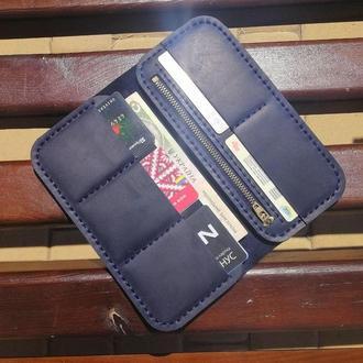 Кожаный мужской кошелек.Кошелек из натуральной кожи Revier на 14 октября, подарок на день защитника
