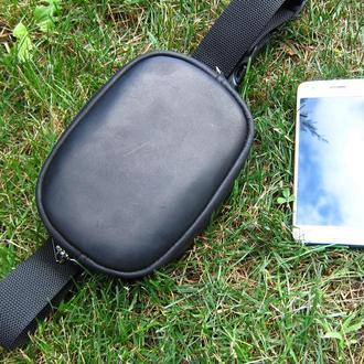 женская поясная сумка из натуральной кожи