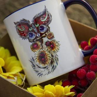 """Чашка з  ілюстрацією """"Чудо-звір"""""""