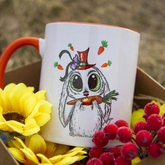 """Чашка с иллюстрацией """"Ты моя морковка"""""""