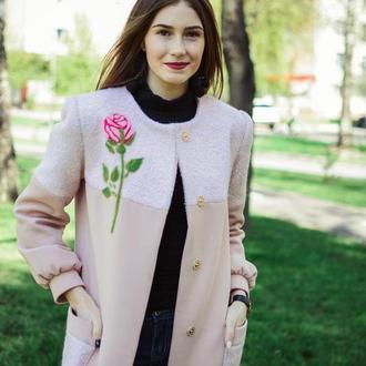 Пальто - пудра, весеннее