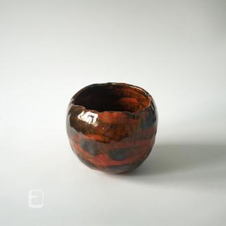 "Work no. 392W — красный тяван, чаван, пиала, чаша, chawan ""ReBa.B6.L"", teabowl in japanese style"