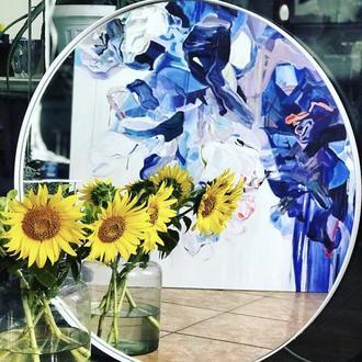 Зеркало в loft стиле в металлической раме