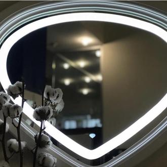 Зеркало с led полсветкой в Деревянной раме