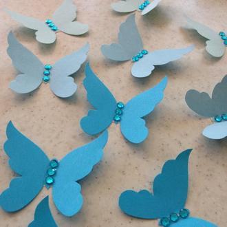 Бумажные 3D бабочки для оформления интерьера любых цветов и размеров