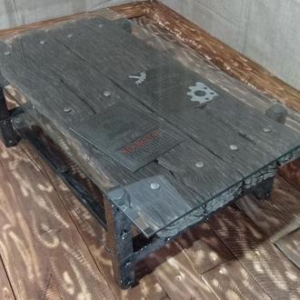 журнальный столик в стиле Loft ручной работы купить в украине 52676