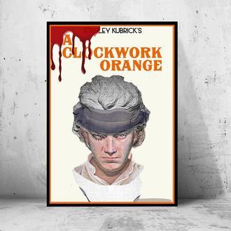 """Постер на ПВХ 3 мм. в рамке """"Clockwork Orange"""" (Заводной Апельсин: Кровавое Пятно)"""