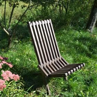 Стул раскладной деревянный, шезлонг для пикника