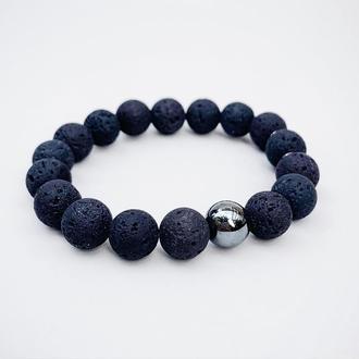 Браслет из вулканической лавы  (модель № 531) JK jewelry