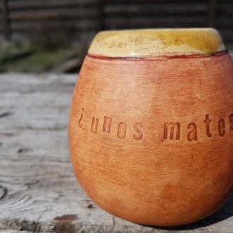 Керамічний калабас ¿unos mates? Замовляйте також з іменем чи улюбленим афоризмом:)