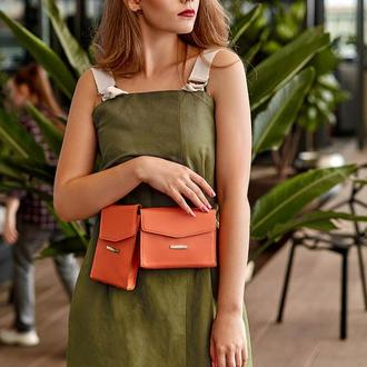 Набор сумок mini поясная/кроссбоди Живой коралл