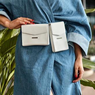 Набор сумок mini поясная/кроссбоди Белый