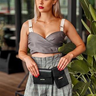 Набор сумок mini поясная/кроссбоди Графит (черный)