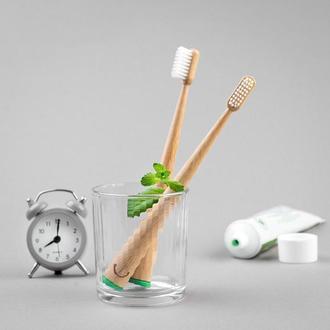 Набор бамбуковых зубных щеток Zoobbee (2 шт.)