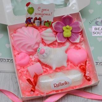 Набор мыла КОТ и СЛАДОСТИ, на 8 Марта,  с Днем рождения