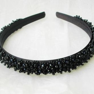 Черный обруч для волос