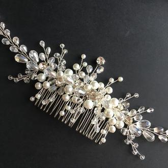 Свадебный гребень#6, гребешок для невесты, прикраса в зачіску