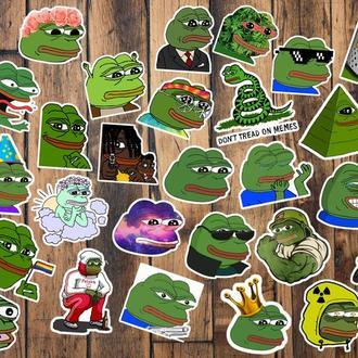 """Набор наклеек """"Лягушонок Пепе/Pepe"""""""