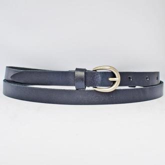 Classic2s15 женский кожаный синий узкий ремень кожанный пояс натуральная кожа