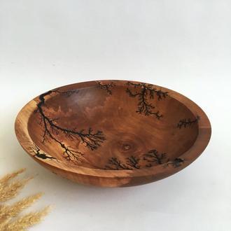 Фруктовниця з дерева, декоративна мисочка