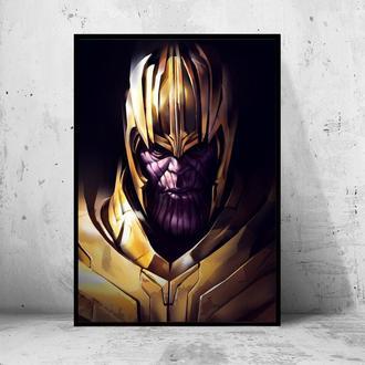 "Постер на ПВХ 3 мм. в рамке ""Thanos"" (Танос Профиль)"