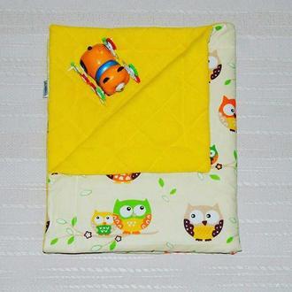 Детский плед-одеяло с совушками