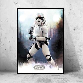 "Постер на ПВХ 3 мм. в рамке ""Stormtrooper"" (Штурмовик Кровавое Пятно)"