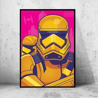 """Постер на ПВХ 3 мм. в рамке """"Gold Stormtrooper"""" (Золотой Штурмовик)"""