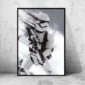 """Постер на ПВХ 3 мм. в рамке """"Stormtrooper Dust"""" (Штурмовик)"""