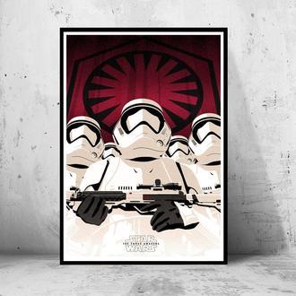 """Постер на ПВХ 3 мм. в рамке """"Stormtrooperы"""" (Звездные Войны: Штурмовики)"""