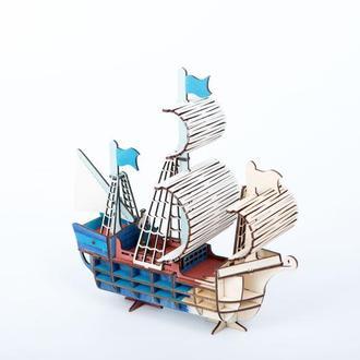 """3D модель """"Парусник"""" , раскраска, (розмальовка), конструктор, пазл . Корабль ,"""