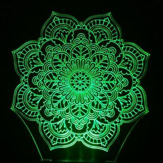 Ночник Мандала (символ гармонии), подарок девушке, романтический подарок на день рождения