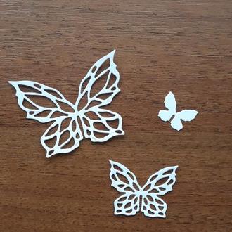 Набор Картонной вырубки ажурные бабочки 1