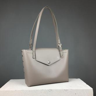 Кожаная сумка шоппер (art:40025)