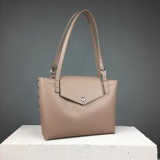 Кожаная сумка шоппер (art:40026)