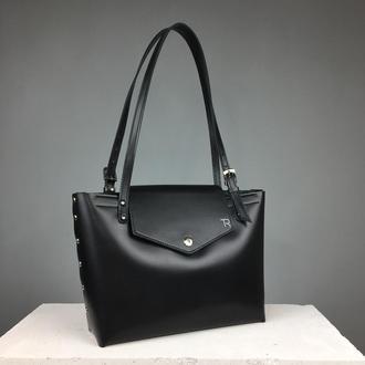 Кожаная сумка шоппер (art:40027)
