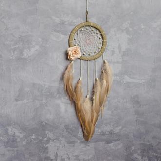 Ловец снов с розами. Ловец с цветами. Персиковый ловец снов. Ловец снов в детскую.