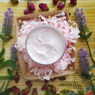 Взбитое масло Ши с маслами лаванды и розы
