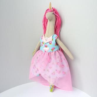 Текстильная кукла, единорог, єдиноріг