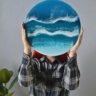 """Картина из эпоксидной смолы  """"Море"""""""