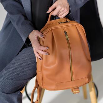 Monik Leather Backpack ginger (артикул: w062.5)