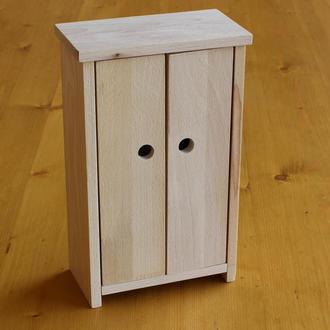 Шкаф для кукол/Деревянная игрушечная мебель/Мебель для кукол
