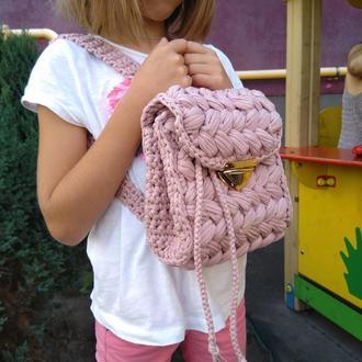 Детский вязанный рюкзак