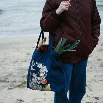 Двухсторонняя сумка тоут из крепкого коттона