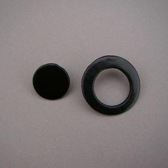 Серьги асимметричные круги