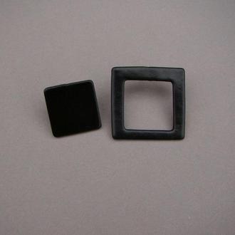 Серьги ассиметричные квадраты